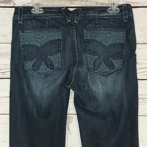 Anoname Jeans Evie Embroidered Butterfly Bootcut